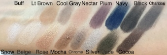 Lorac 2 swatches