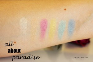 paradise swatches